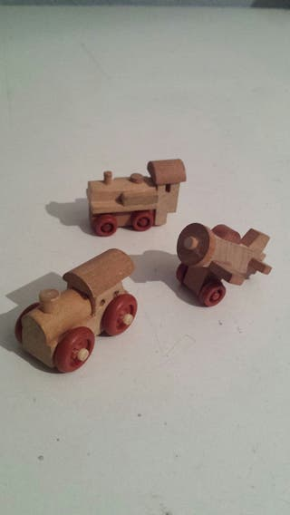 Trenes y avión de madera Kinder