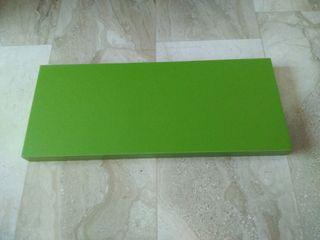 2x Balda 60x25x4cm color verde