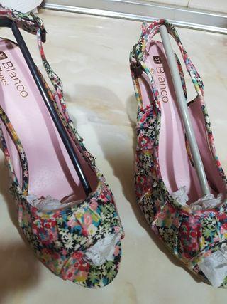 Zapatos primaverales de Blanco