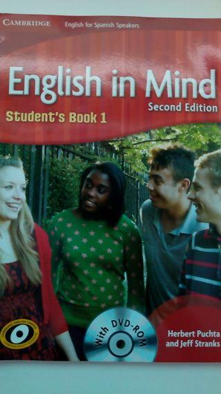 libro de inglés ( English un Mind )
