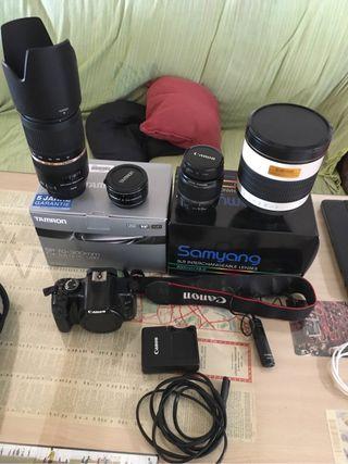Canon 450d + accesorios