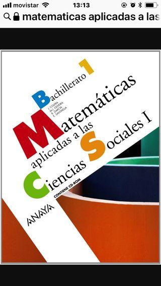 Libro matemáticas 1º Bachillerato
