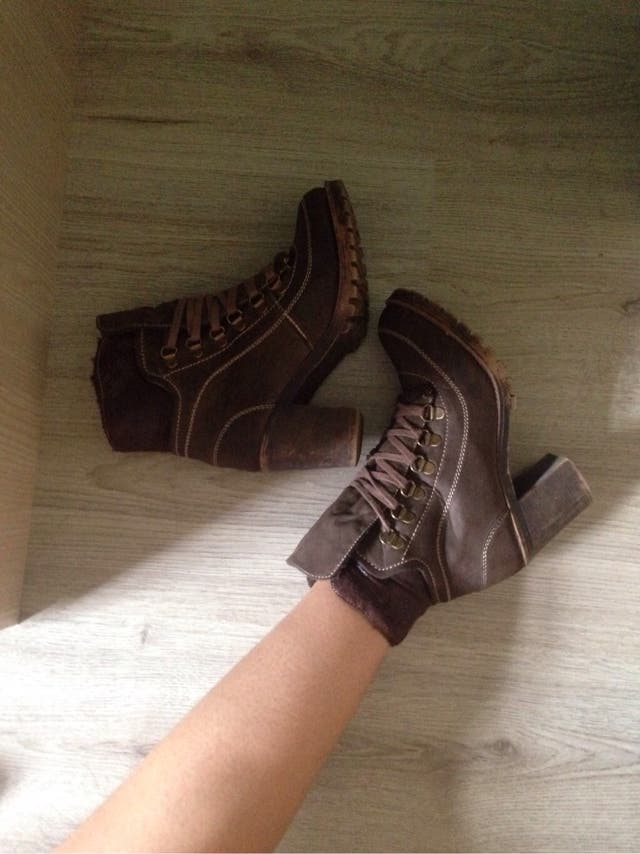 Brown boots booties