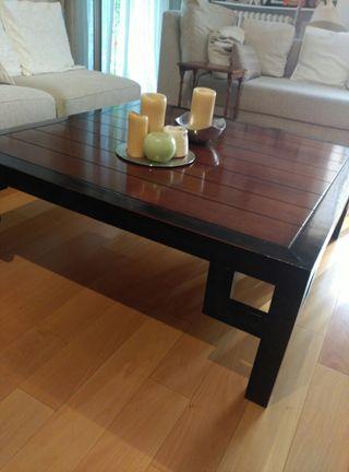 mesa de centro de muebles calsan de segunda mano por 90