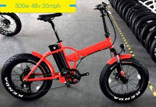folding fatbike electric 48v 500w