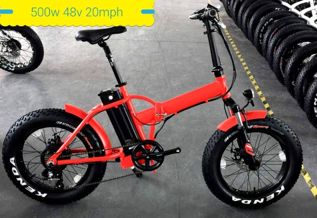 folding fatbike electric 48v 500w