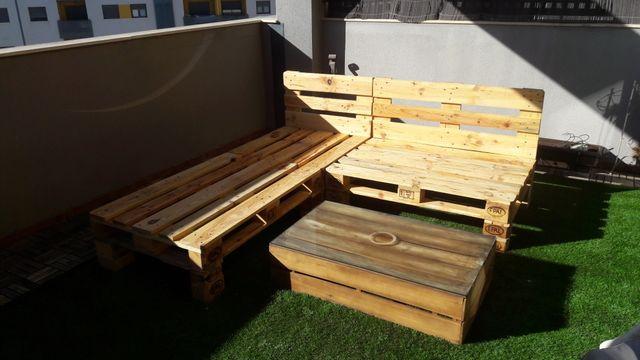 Muebles de palet para terrazas de segunda mano por 80 en - Muebles de jardin murcia ...