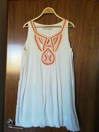 Vestido blanco de fiesta Zara