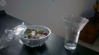 Bombonera cristal +miniflorero