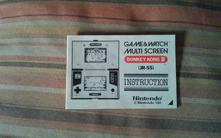 Instrucciones Donkey Kong II G&W