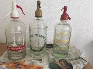 Sifones vintage para decoración