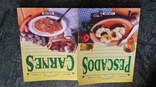 """Libros """" Cocinar en Casa"""" Pescados y Carnes"""