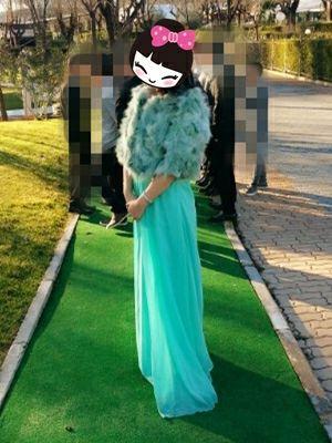 Vestido fiesta largo verde agua talla M-L