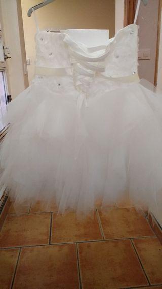 vestido fiesta/novia corto