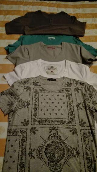 Conjunto de 5 camisetas para chicos talla S