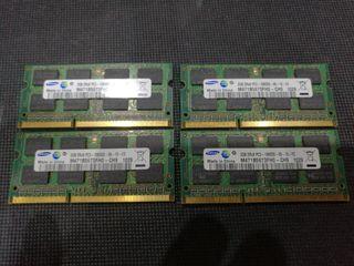 Memoria RAM 8 gigas DDR portátil