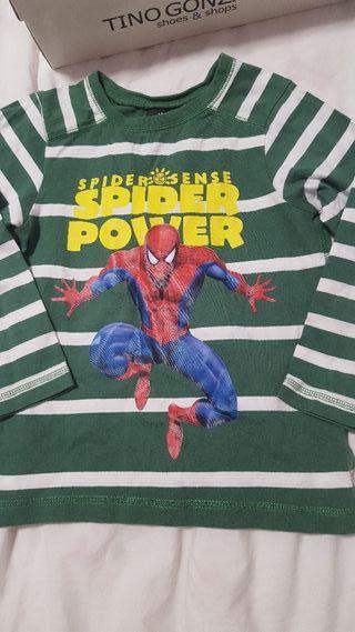 Blusita niño de Spiderman