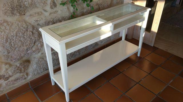 Ikea liatorp mueble consola recibidor taquillon bl de for Muebles segunda mano pontevedra