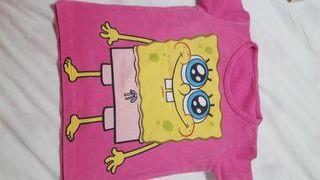 Camiseta niña Bob Esponja