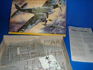avion escala 1:72 italieri HEINKEL HE 111 nuevo