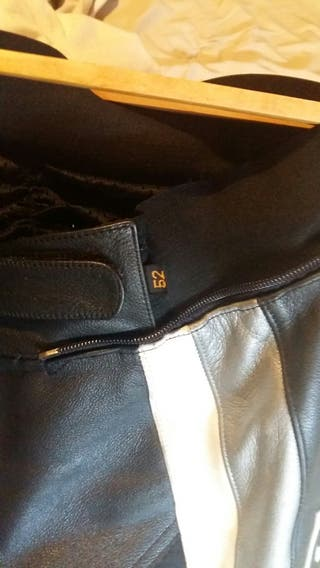 pantalon de cuero moto ixs