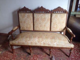 Conjunto sofa,sillas y sillon