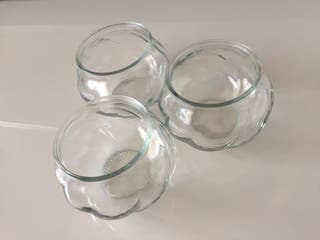 Botes cristal decoración