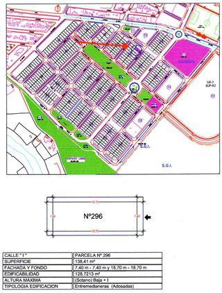 Terreno 138m2 autoconstrucción VPO