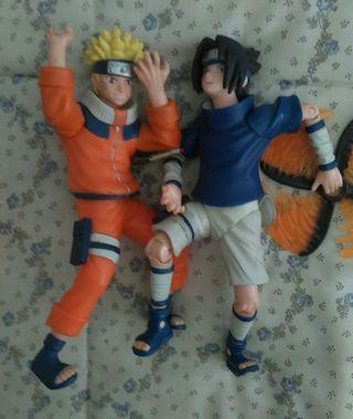 Figuras de Naruto y Sasuke