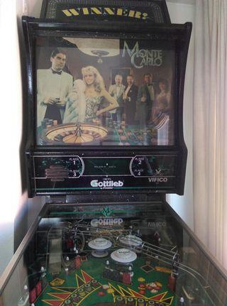 Pinball modelo Montecarlo Casino