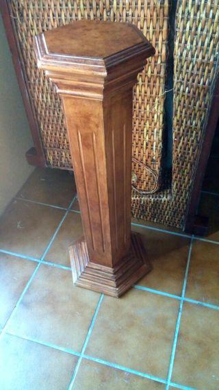 colunna de madera