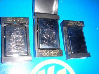 zippos 3 zippos diferentes nuevos