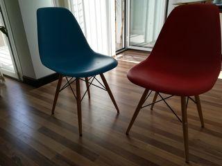 Sillas modelo Eames