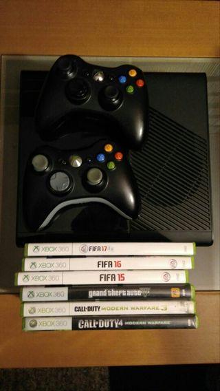 Xbox 360 (con HDMI), 6 juegos y 2 mandos