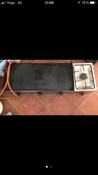 Plancha de cocina a gas de segunda mano en wallapop for Planchas de cocina industriales de segunda mano