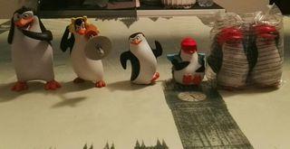Lote juguetes Mc Donalds pingüinos