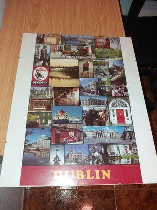 Lámina enmarcada lugares de Dublín
