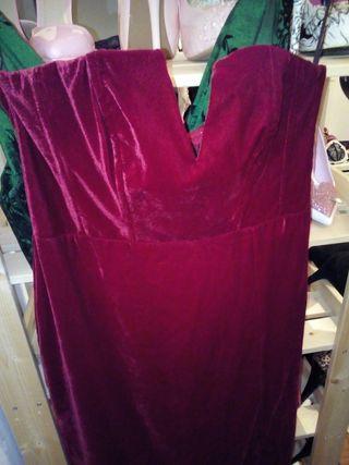 vestido elegante terciopelo sin usar
