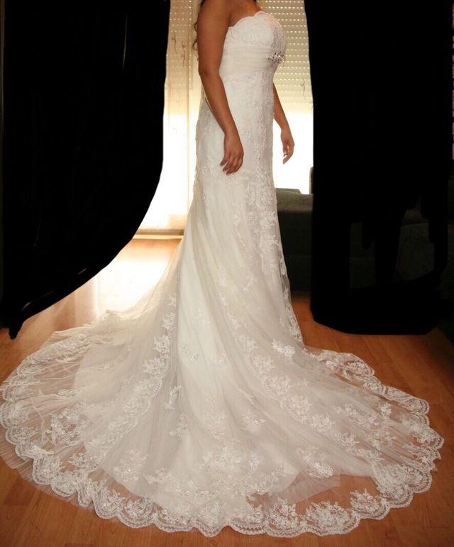vestido novia precioso de segunda mano por 300 € en bilbao en wallapop