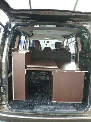 mueble camper para nissan nv200 hecho a mededia