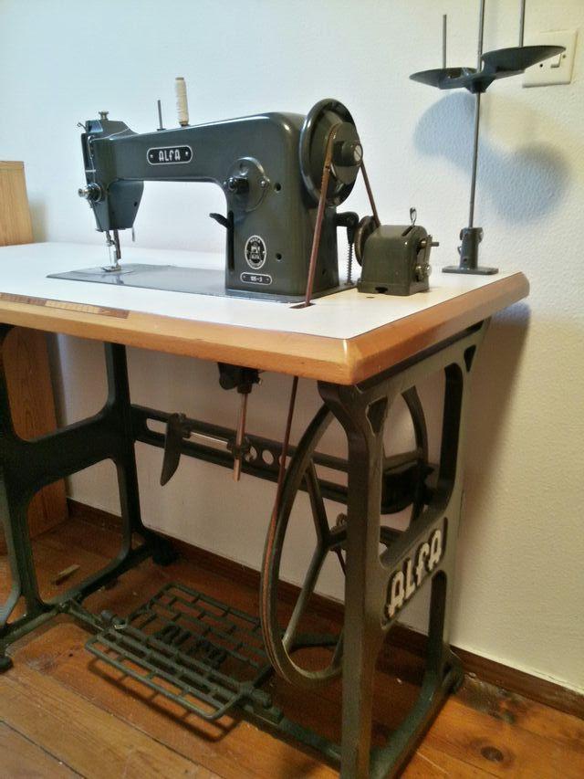 Máquina coser antigua alfa 105-3 de segunda mano por 200
