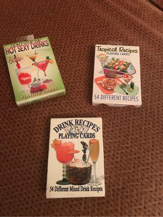 Cartas con recetas de bebidas y comidas nuevas