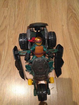 super moto con tortuga ninja incluida