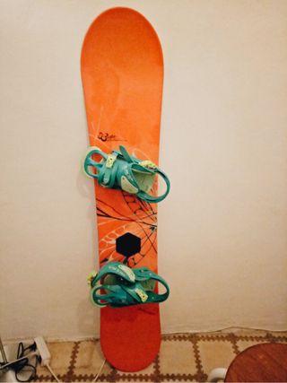 Tabla snowboard y botas