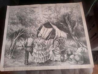 dibujo a plumilla sigloXIX