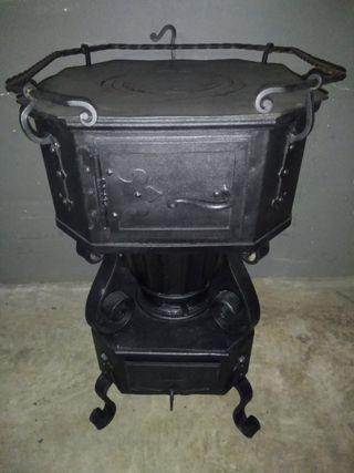 estufa antigua epoca modernista