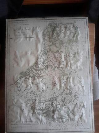Mapa de los Países Bajos sigloXIX