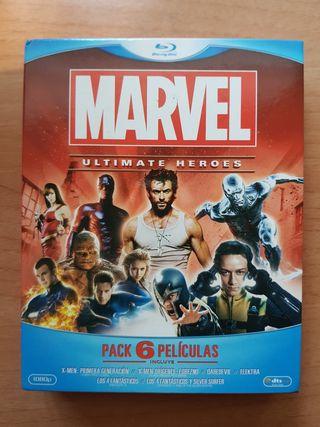 pack pelis blu ray marvel ed.limitada