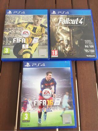 3 juegos oficiales PS4