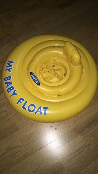 flotador bebe con seguridad